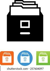 File cabinet symbol
