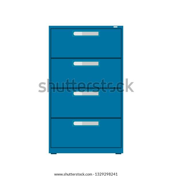 Cabinet Maker Clip Art: File Cabinet Vector Icon Furniture Interior Stock Vector