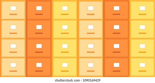 File cabinet . Vector seamless pattern