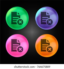 File crystal ball design icon in green - blue - pink and orange.