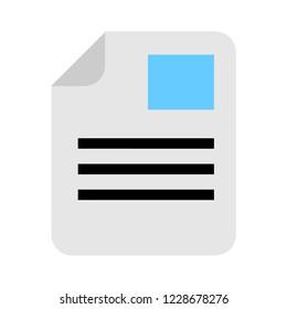 File document icon. Download doc button. Doc file symbol.