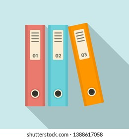 File folder icon. Flat illustration of file folder vector icon for web design
