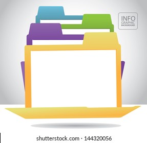 File folder infographic background template layout. EPS 10 vector, grouped for easy editing. No open shapes or paths.