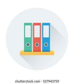 File Folders Vector Icon