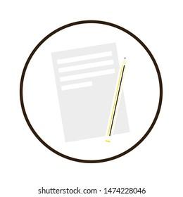 file icon. flat illustration of file vector icon. file sign symbol