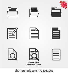 File icons vector
