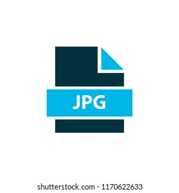 File jpg icon colored symbol. Premium quality isolated jpeg element in trendy style.