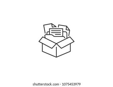 File Organization Line Icon