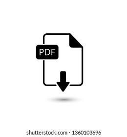 File PDF icon. Vector illustration