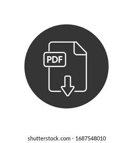 File PDF line icon. Vector illustration