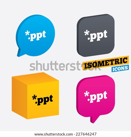 file presentation icon download ppt button stock vector royalty