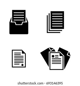 File. Simple Related Vector Icons Set for Video, Mobile Apps, Web Sites, Print Projects and Your Design. Black Flat Illustration on White Background.