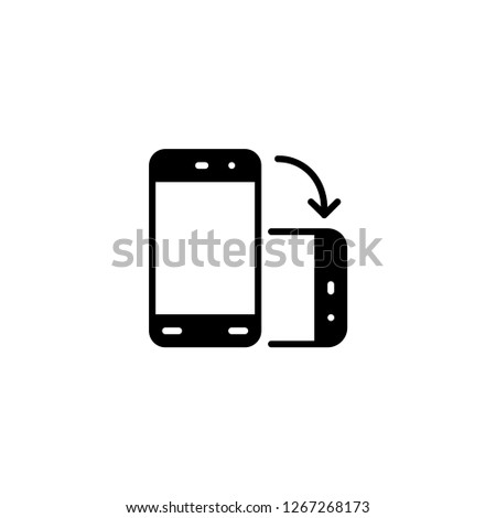 File Transfer Icon Mobile Sync Sign Stock Vector (Royalty