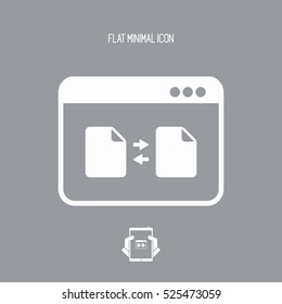 File transfer - Vector flat minimal icon