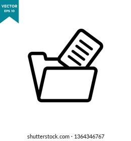 file transfer vector icon, folder icon