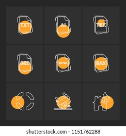 file type  files  documents  file   doc  ai  psd  pdf  png  jpg  dmg  exe  msd  apk  txt docx xls  html  css   wav mp3  mp4  db  eps  svg icon vector design  flat  collection style creative  icons