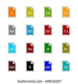File type icons: Graphics - Line UL Color