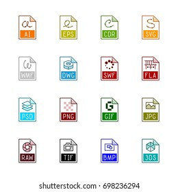 File type icons: Graphics - Line Color