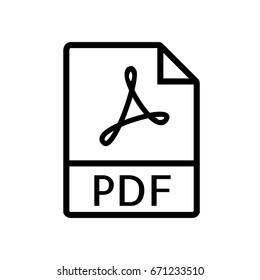 File Type Icons - PDF file (Outline Style)