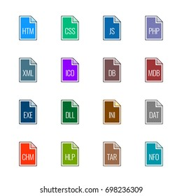 File type icons: Websites and applications - Line UL Color
