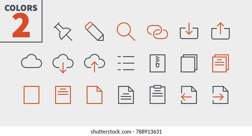 File UI Pixel Perfect Well-crafted Vector Thin Line Icons 48x48 Ready for 24x24 Grid for Web Graphics and Apps with Editable Stroke. Simple Minimal Pictogram Part 2-4