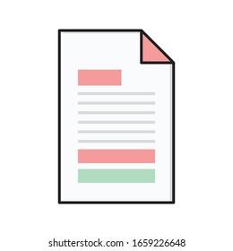 file vector flat color icon