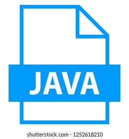 Filename extension icon JAVA Java Source Code File in flat style. Quick and easy recolorable shape. Vector illustration a graphic element.