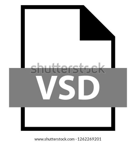 Filename Extension Icon VSD File Format เวกเตอร์สต็อก (ปลอด