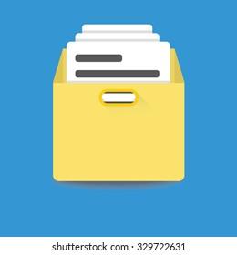 files archive box icon