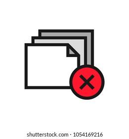 Files Delete icon