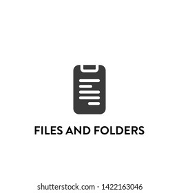 files and folders icon vector. files and folders vector graphic illustration