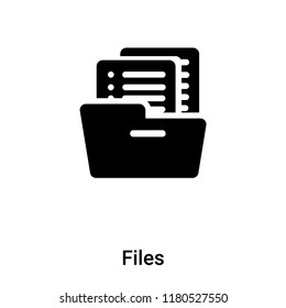 Files icon vector isolated on white background, logo concept of Files sign on transparent background, filled black symbol