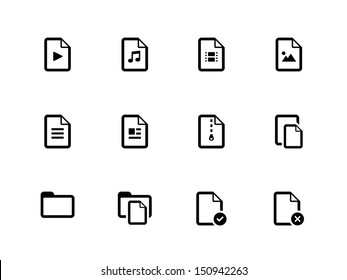 Files icons on white background. Vector illustration.