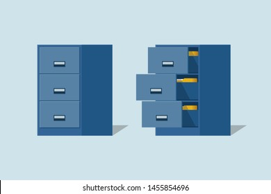 Filing cabinet with four drawer,Documents open office box
