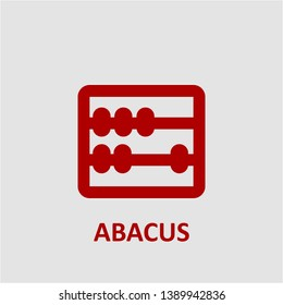 Filled abacus icon. Abacus vector illustration for graphic design. Abacus symbol.