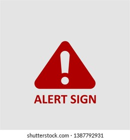 Filled alert sign icon. Alert sign vector illustration for graphic design. Alert sign symbol.