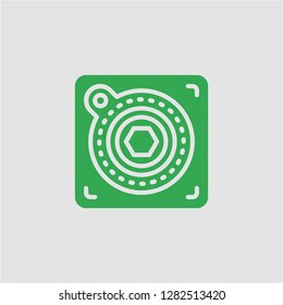 Filled atari super icon. Atari vector illustration for graphic design. Atari symbol.