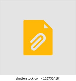 Filled attached super icon. Attached vector illustration for graphic design. Attached symbol.