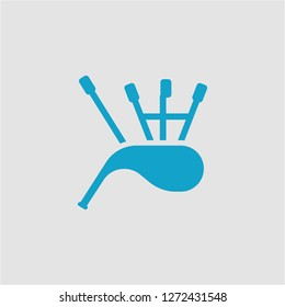 Filled bagpipes super icon. Bagpipes vector illustration for graphic design. Bagpipes symbol.
