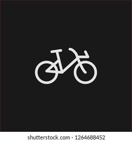 Filled bicycle super icon. Bicycle vector illustration for graphic design. Bicycle symbol.