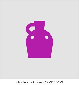 Filled canteen super icon. Canteen vector illustration for graphic design. Canteen symbol.