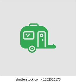 Filled caravan super icon. Caravan vector illustration for graphic design. Caravan symbol.