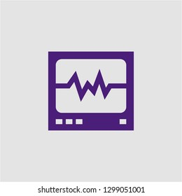 Filled cardiogram super icon. Cardiogram vector illustration for graphic design. Cardiogram symbol.