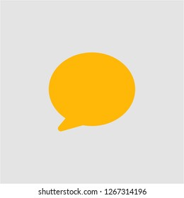 Filled chat balloon super icon. Chat balloon vector illustration for graphic design. Chat balloon symbol.