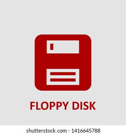 Filled floppy disk icon. Floppy disk vector illustration for graphic design. Floppy disk symbol.