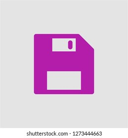 Filled floppy disk super icon. Floppy disk vector illustration for graphic design. Floppy disk symbol.