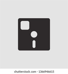 Filled floppy diskette icon. Floppy diskette vector illustration for graphic design. Floppy diskette symbol.