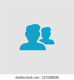 Filled group super icon. Group vector illustration for graphic design. Group symbol.