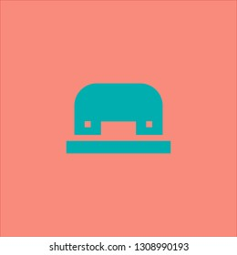 Filled hole puncher icon. Hole puncher vector illustration for graphic design. Hole puncher symbol.