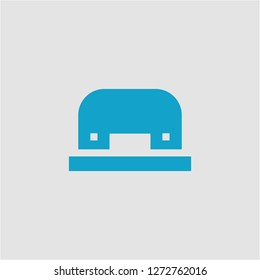 Filled hole puncher super icon. Hole puncher vector illustration for graphic design. Hole puncher symbol.